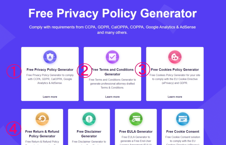 free privacy policy generator