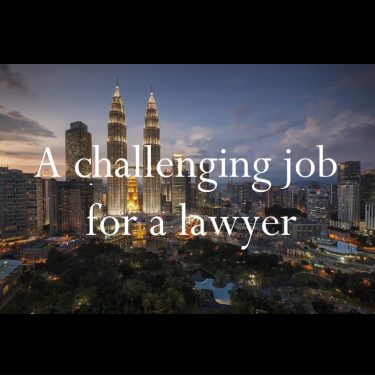 A challenging job for a lawyer